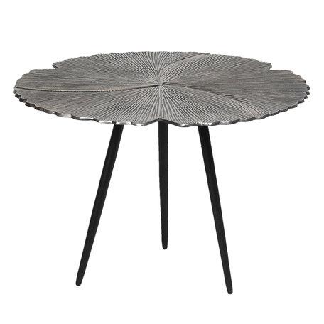 Bijzettafel ø 59*40 cm Zilverkleurig | 64627L | Clayre & Eef