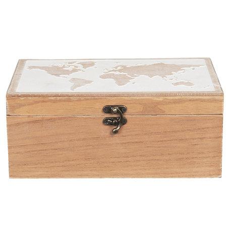 Kist van hout 24*16*10 cm Bruin | 6H1932 | Clayre & Eef
