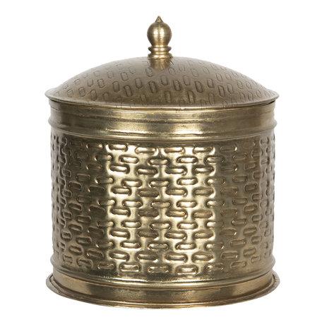 Metalen doosje ø 18*20 cm Koperkleurig | 6Y4050 | Clayre & Eef