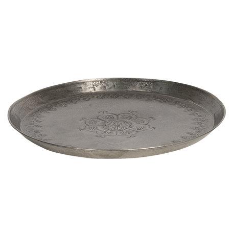 Dienblad ø 27*3 cm Zilverkleurig | 6Y4052 | Clayre & Eef