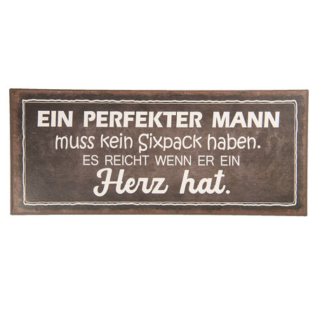 Tekstbord 30*13 cm Zwart | 6Y3634D | Clayre & Eef