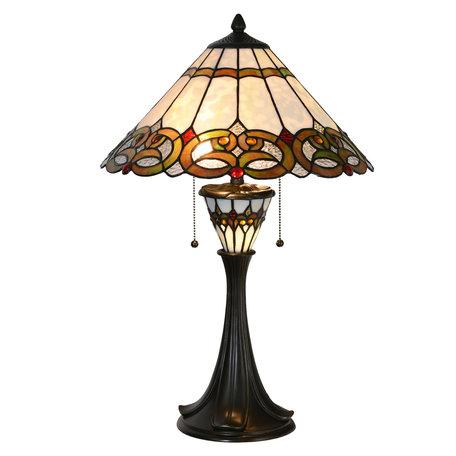 Tafellamp Tiffany ø 40*61 cm Multi | 5LL-5392 | Clayre & Eef