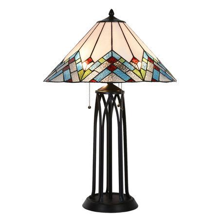 Tafellamp Tiffany ø 51*75 cm Multi | 5LL-5393 | Clayre & Eef