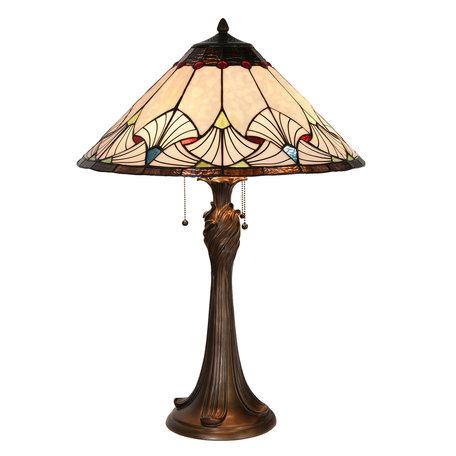 Tafellamp Tiffany ø 51*78 cm Multi | 5LL-5394 | Clayre & Eef