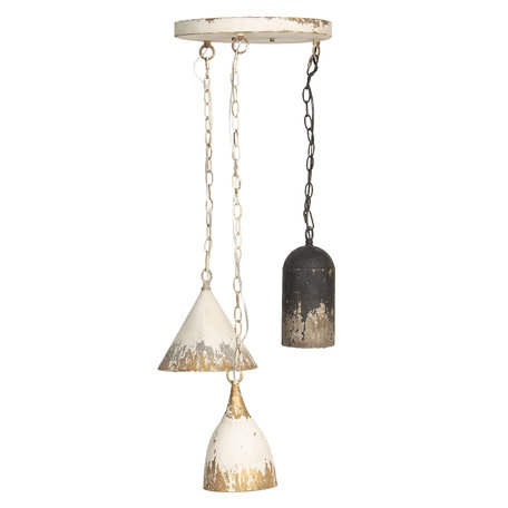 Hanglamp ø 70*95 cm E14/max 3*25W Wit   5LMP320   Clayre & Eef