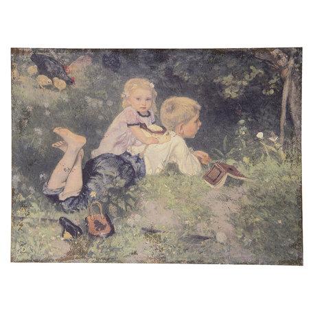 Schilderij 73*3*55 cm Multi | 50445 | Clayre & Eef
