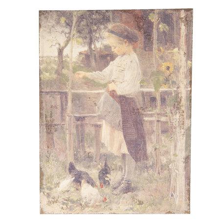 Schilderij 55*3*73 cm Multi | 50451 | Clayre & Eef