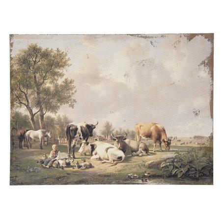 Schilderij 73*3*55 cm Multi | 50453 | Clayre & Eef