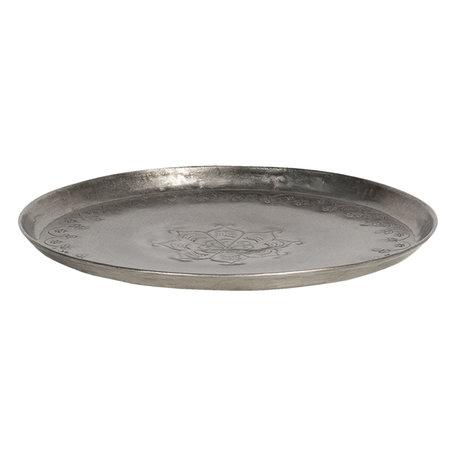 Dienblad ø 21*2 cm Zilverkleurig   6Y4051   Clayre & Eef
