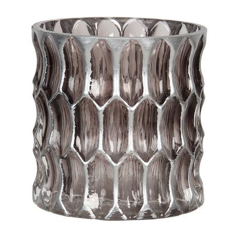 Waxinelichthouder ø 10*10 cm Bruin | 6GL2913S | Clayre & Eef
