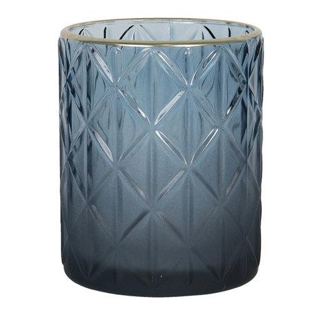 Waxinelichthouder ø 10*12 cm Blauw | 6GL2917L | Clayre & Eef