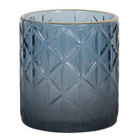 Waxinelichthouder ø 7*8 cm Blauw | 6GL2917S | Clayre & Eef