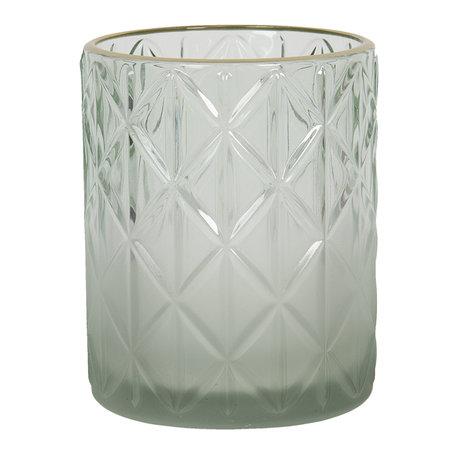 Waxinelichthouder ø 10*12 cm Groen | 6GL2918L | Clayre & Eef