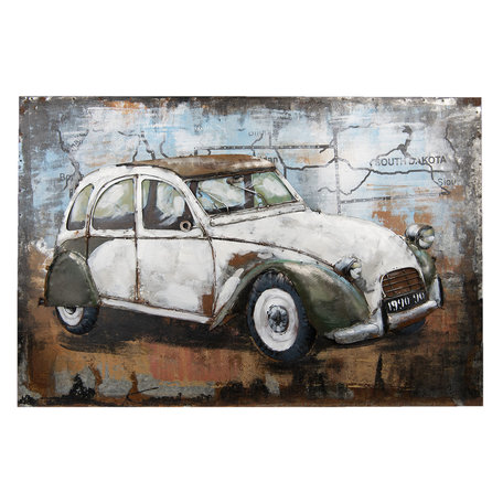 Wanddecoratie auto 90*5*60 cm Multi | 5WA0110 | Clayre & Eef