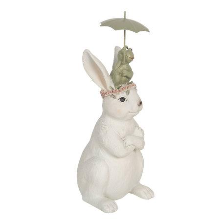 Decoratie konijn en kikker 12*10*24 cm Multi | 6PR3116 | Clayre & Eef