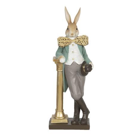 Decoratie konijn 17*15*46 cm Multi | 6PR3161 | Clayre & Eef