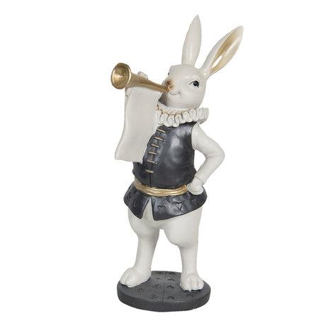 Decoratie konijn met trompet 12*12*29 cm Multi | 6PR3167 | Clayre & Eef