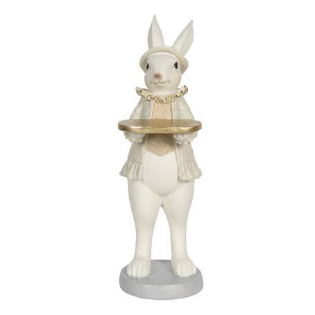 Decoratie konijn meisje 12*9*31 cm Multi | 6PR3171 | Clayre & Eef