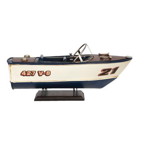 Decoratie model boot 31*13*13 cm Multi   6Y4259   Clayre & Eef