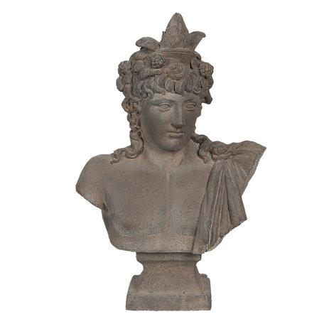 Decoratie buste 42*23*65 cm Grijs | 5MG0001 | Clayre & Eef