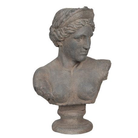 Decoratie buste 44*26*70 cm Grijs | 5MG0002 | Clayre & Eef