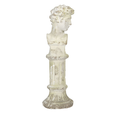 Decoratie buste 19*19*61 cm Wit | 5MG0004 | Clayre & Eef