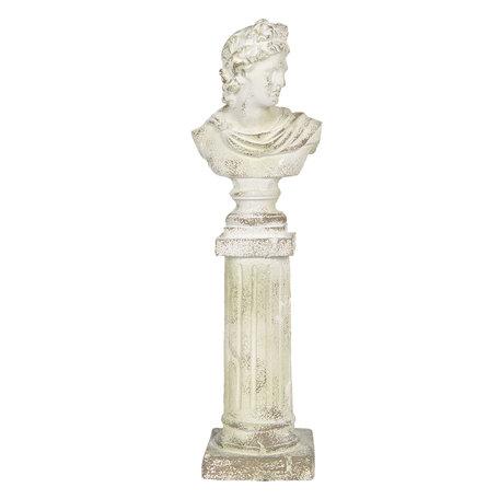 Decoratie buste 17*17*64 cm Wit | 5MG0005 | Clayre & Eef