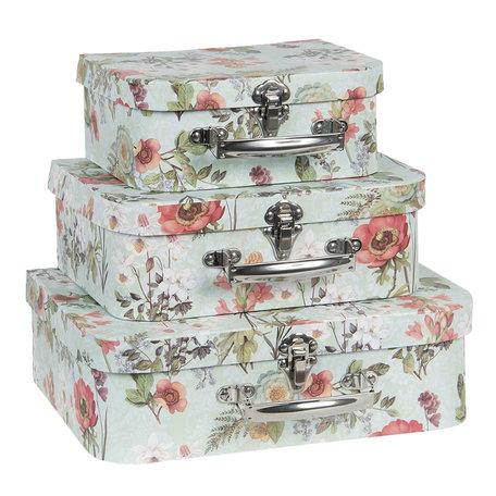 Decoratie koffer (set van 3) 30*21*9/25*18*9/20*16*8 cm Multi | 64749 | Clayre & Eef