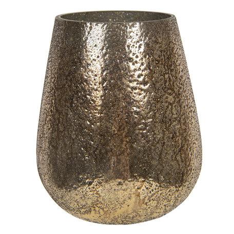 Waxinelichthouder ø 16*18 cm Goudkleurig   6GL2860   Clayre & Eef