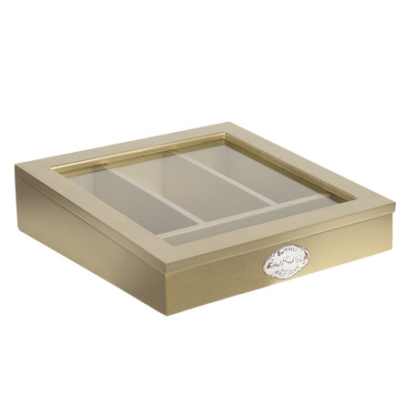 Bestekbak 30*30*8 cm Goudkleurig | 6H1583GO | Clayre & Eef