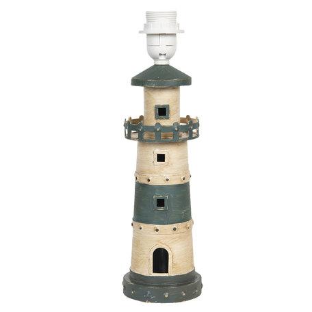 Lampenvoet 10*10*36 cm E27/max 1*60W Wit | 6LMP699 | Clayre & Eef