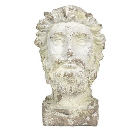 Decoratie buste 31*25*43 cm Wit | 6MG0001 | Clayre & Eef