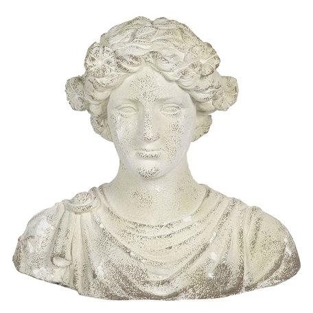 Decoratie buste 40*24*39 cm Wit | 6MG0002 | Clayre & Eef