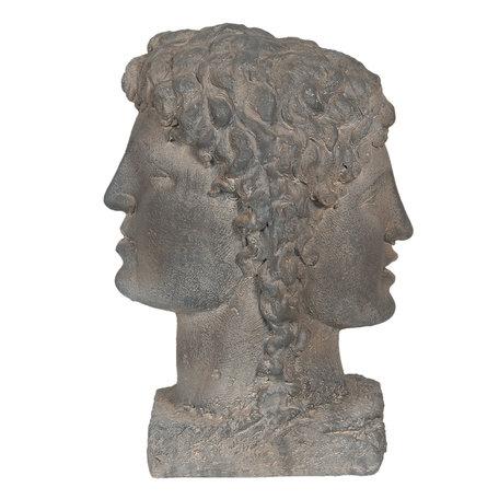 Decoratie buste 29*24*42 cm Grijs | 6MG0009 | Clayre & Eef