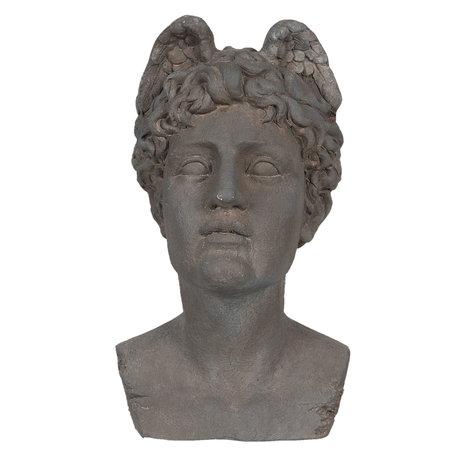 Decoratie buste 25*28*48 cm Grijs | 6MG0010 | Clayre & Eef