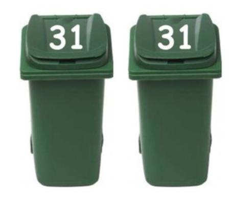 Sticker set 2 x huisnummer dekselsticker | Rosami Decoratiestickers