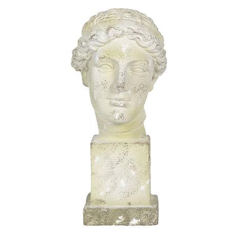 Decoratie buste 30*24*54 cm Wit | 5MG0003 | Clayre & Eef