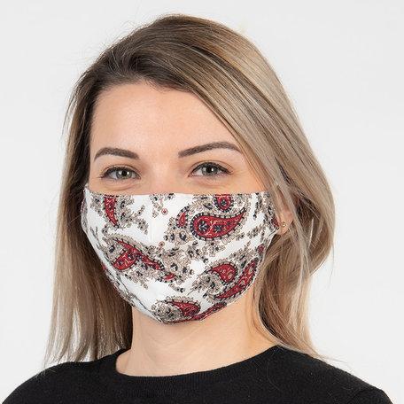 Mondmasker fashion 13*26 cm Wit | FM0008 | Clayre & Eef