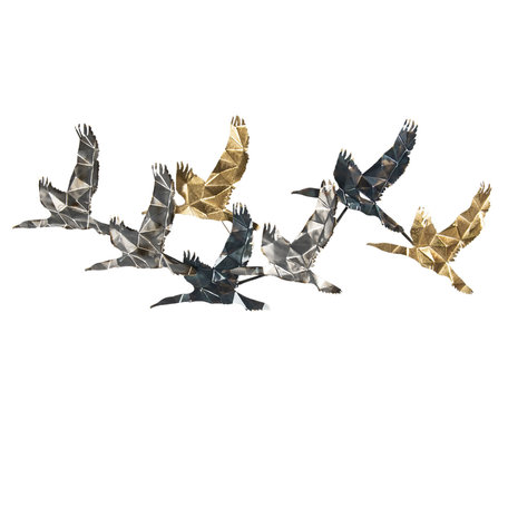 Wanddecoratie vogels 128*5*48 cm Multi | 5Y0783 | Clayre & Eef