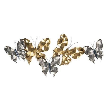 Wanddecoratie vlinders 124*6*51 cm Multi | 5Y0784 | Clayre & Eef