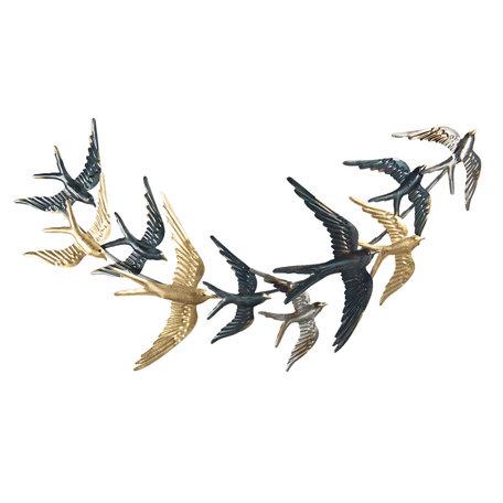 Wanddecoratie vogels 79*4*42 cm Multi | 5Y0788 | Clayre & Eef