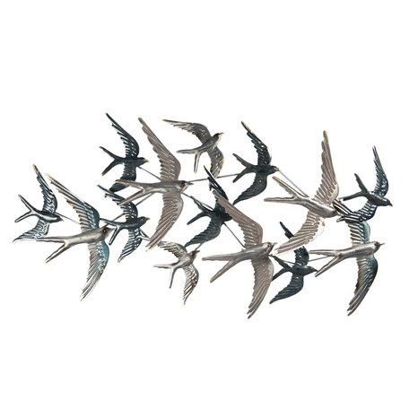Wanddecoratie vogels 87*4*45 cm Multi | 5Y0789 | Clayre & Eef