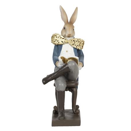 Decoratie konijn 17*15*41 cm Multi | 6PR3160 | Clayre & Eef