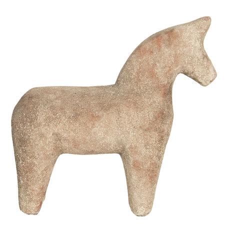 Decoratie paard 25*8*25 cm Bruin   6CE1220   Clayre & Eef
