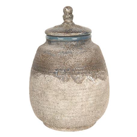 Decoratieve pot ø 15*23 cm Bruin   6CE1226   Clayre & Eef