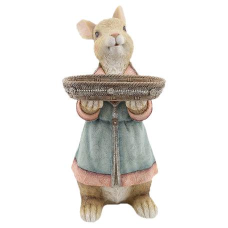 Decoratie konijn 23*17*36 cm Bruin | 6PR2331 | Clayre & Eef