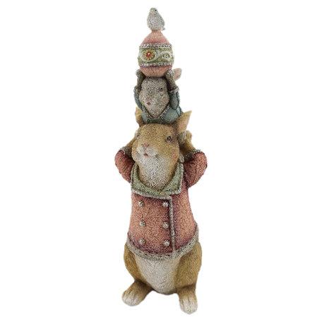 Decoratie konijn 12*11*34 cm Bruin | 6PR2333 | Clayre & Eef