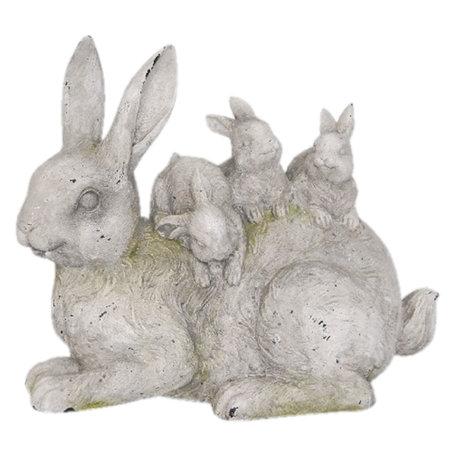 Decoratie konijnen 34*18*29 cm Grijs | 6PR2337 | Clayre & Eef