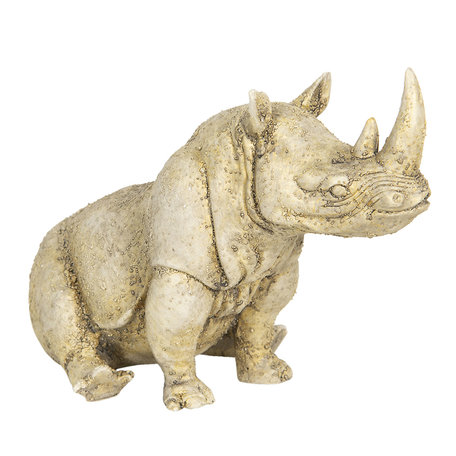 Decoratie neushoorn 32*17*20 cm Beige | 6PR3198 | Clayre & Eef