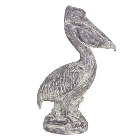 Decoratie pelikaan 19*11*31 cm Bruin | 6PR3204 | Clayre & Eef
